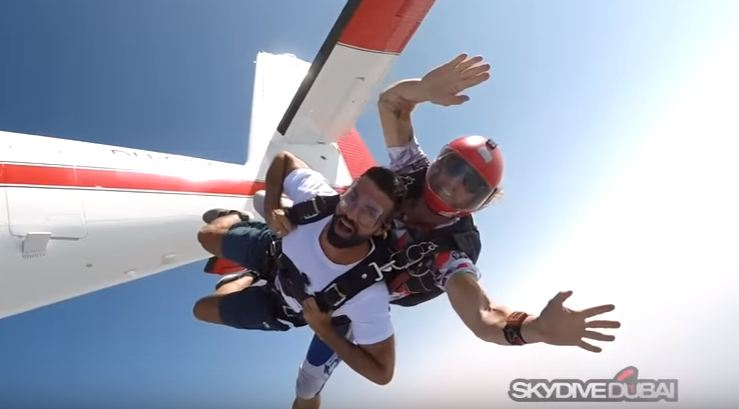 DARIO OWEN IN SKYDIVE DUBAI